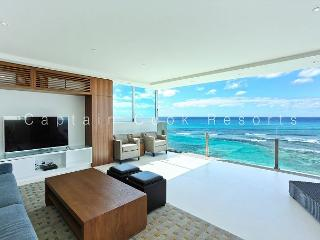 MESMERIZING Oceanfront Views; Impressive 2 Bedroom, 2 Bath with Washlets! - Waikiki vacation rentals