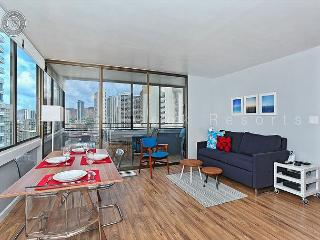 Renovated 21st floor one bedroom with new kitchen and bath! - Waikiki vacation rentals