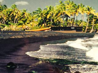 Turtle Huts at Punalu'u Black Sand Beach 5 Star! - Pahala vacation rentals