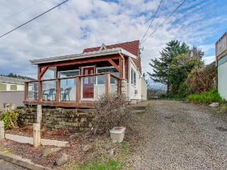 Dog-friendly home with ocean views from deck and private hot tub! - Depoe Bay vacation rentals