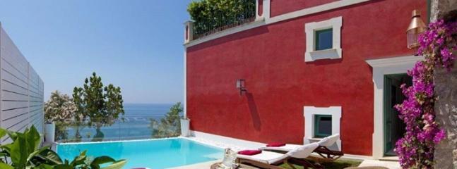 outdoor swimming pool - il faro - Praiano - rentals