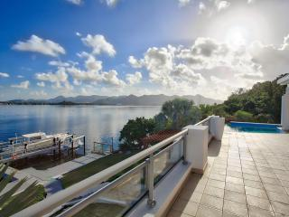 AMARYLLIS... Modern waterfront 5BR villa with boat dock and full AC, in gated - Maho vacation rentals
