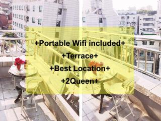 Terrace+Myeongdong+Center+Queen beds+3min stn+wifi - Seoul vacation rentals