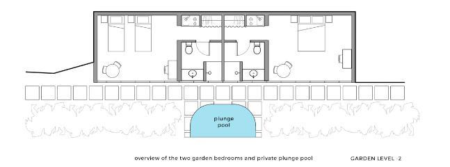 Garden Bedroom 1 queen bed @ Villa Coulibri - Soufriere vacation rentals