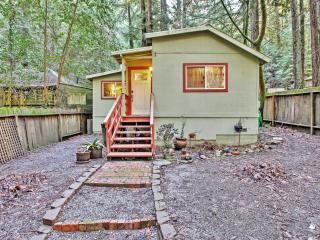 Peaceful 1BR Guerneville Cottage w/Wifi, Private Yard, Deck & Amazing Redwood Forest Views - Set in the Heart of the Russian River Resort Area! Near River Beaches & Local Attractions - Guerneville vacation rentals