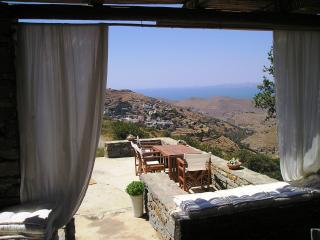Traditional stone house with magical views of the sea on the island Kea. - Korissia vacation rentals