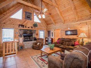 Magnificent 4 Bd-4 Ba   Log Home w/Game Rm, HotTub - Branson vacation rentals