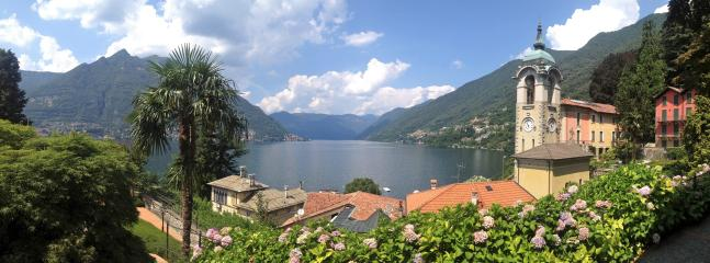 The iconic view that defines our property, exactly what you see from  the living room - 1 bedroom apartment on the shores of Lake Como - Como - rentals