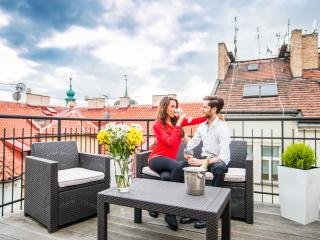 LUXURY PENTHOUSE WITH TERRACE! City center, hot! - Prague vacation rentals