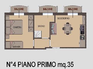 Appartamento Bilocale 1° piano - Torre Pedrera vacation rentals