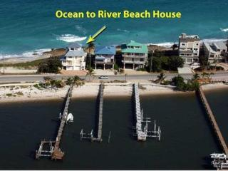 5-Star FL Beach House. ON beach. Ocean+River+Dock! - Stuart vacation rentals
