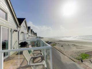 Dog-friendly, oceanfront home w/ two balconies, beach access & pool table! - Rockaway Beach vacation rentals