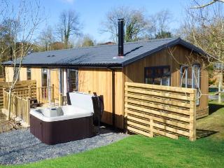 LAMB LODGE, romantic lodge, woodburner, hot tub, parking, in Allithwaite, Ref 935106 - Allithwaite vacation rentals