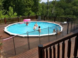 Mountain Air Retreat is a luxury Blue Ridge cabin rental with everything you like, including a swimming pool. - Copperhill vacation rentals