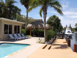 Waterfront, Heated Pool, Private Dock, New TikiHut - Pompano Beach vacation rentals