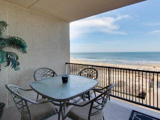 Beachfront view from private balcony, shared seasonal pool! - Ocean City vacation rentals