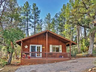New Listing! Adorable 2BR Pine Cabin in Quiet Wooded Setting w/Huge Screened-in Porch & Wood Burning Stove - Near Hiking Trails, Antiquing, Restaurants, Downtown Pine & Payson! - Pine vacation rentals