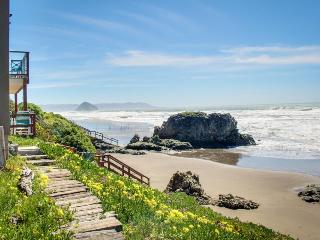 Ocean views, a deck & firepit, just 50 feet from the beach! - Cayucos vacation rentals