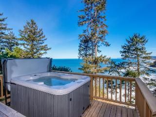 Dog-friendly home w/private hot tub, views of Proposal Rock and the ocean - Neskowin vacation rentals