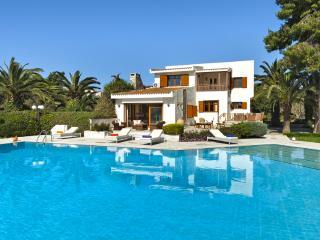 Beachfront Villa Pasithea, pool, semiprivate beach - Kosta vacation rentals