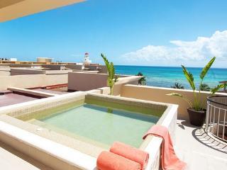 OCEAN FRONT CONDO WITH PRIVATE TERRACE. 10% OFF - Playa del Carmen vacation rentals