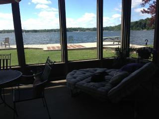 Lake front house with pier and swimming 4 bedroom - LaPorte vacation rentals