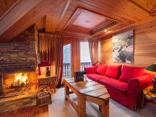 Cozy 2 bedroom Courchevel Apartment with Fireplace - Courchevel vacation rentals