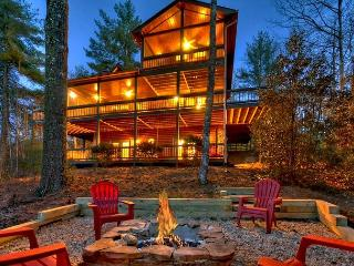Brand New Log Home, Sleeps 8, Mountain View, Hot Tub, Game Room - Blue Ridge vacation rentals