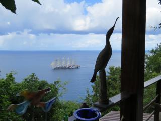 Treehouse Studio in terraced sculpture gardens - Marigot Bay vacation rentals