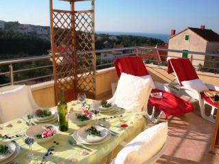 Sea view apt with fabulous sun lounging terrace - Supetar vacation rentals