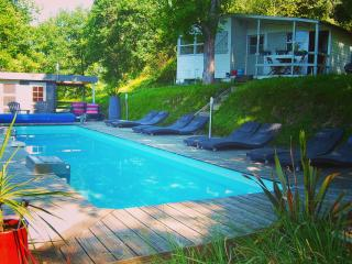 Riverside chalet with heated pool near Biarritz (1 - La Bastide Clairence vacation rentals