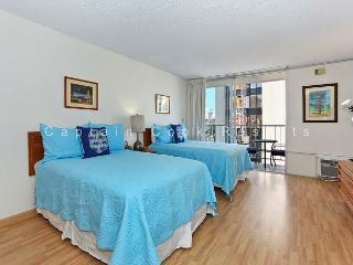 Central Waikiki studio, washlet, AC, FREE parking and WiFi!  Sleeps 3. - Waikiki vacation rentals