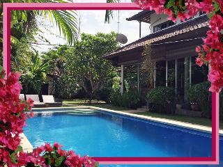 Villa Palm - fully enclosed pool-safe family 3bd/bth A/C pool WIFI Seminyak - Seminyak vacation rentals