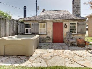 Dog-friendly, historic cabin with private hot tub & rustic charm! - Luckenbach vacation rentals