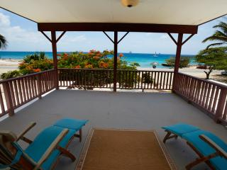 Fabulous two story ocean front villa, large pool - Malmok Beach vacation rentals