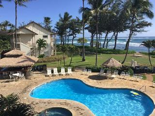Islander on the Beach #201, Ocean View Studio, Beachfront, Air Conditioned! - Kapaa vacation rentals