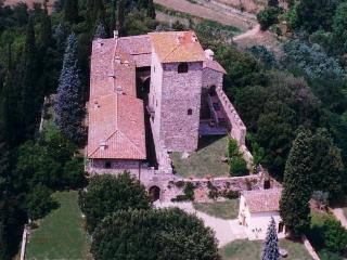 Primo piano della torre del Castello di Mugnana - Strada in Chianti vacation rentals