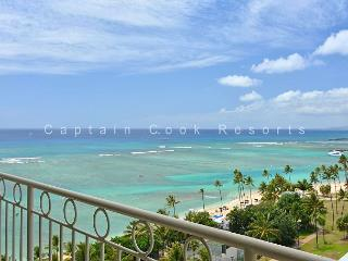 Oceanview 1-bedroom, full kitchen, washer/dryer, A/C, WiFi, sleeps 4. - Waikiki vacation rentals