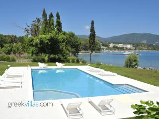 Greek Villas Corfu - the Wave Beach Villa  amazing seafront villa sharing pool sleeps 6+ - Corfu vacation rentals