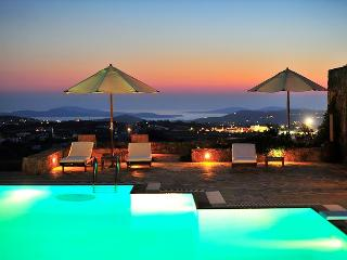 Mykonos Sunset Private Estate with stunning sunsets and seaviews and  7 B/R - Mykonos vacation rentals