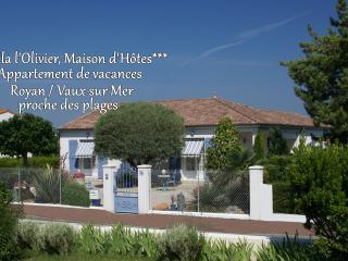 VILLA L'OLIVIER - Appartement de charme*** - Vaux-sur-Mer vacation rentals