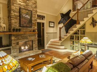 Luxury on the Creek, 2 Fireplaces, Hot Tub, Fishing, Swimming, and Lake Access! - Bryson City vacation rentals