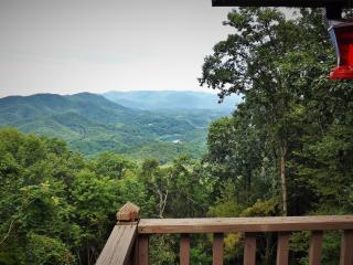 Majestic Overlook -Mtn and Lake Views, Honeymoon Cabin, Hot Tub, Fireplace! - Bryson City vacation rentals