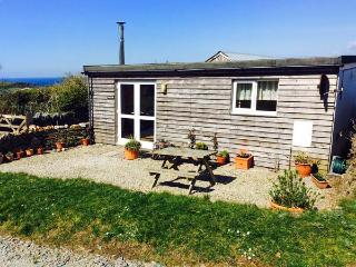 SUNNY CABIN, coastal views, sun-trap setting, woodburner, romantic retreat in Bossiney near Tintagel, Ref 14431 - Tintagel vacation rentals