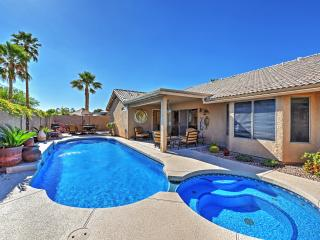 New Listing! Gorgeous 4BR Glendale Home w/Private Swim-Spa Pool,  Outdoor Living Space & Luxury Amenities in Quiet Neighborhood - Minutes from Sports Venues & Phoenix Attractions! - Glendale vacation rentals