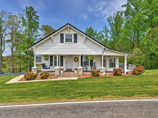 Serene 2BR Dobson Farmhouse w/Wifi, Wraparound Porch & Fire Pit - Quiet Location on 26 Private Acres, Just 1 Mile from Local Vineyards! - Dobson vacation rentals