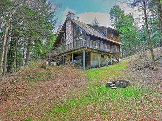 Adirondack-Style 3BR Stamford House on Private 28-Acre Lake w/Wifi, 2 Family Rooms, Huge Wraparound Deck & Gorgeous Views - Secluded Lakefront Setting in Whiting Hollow Lake Community! Near Copious Noteworthy Attractions! - Stamford vacation rentals
