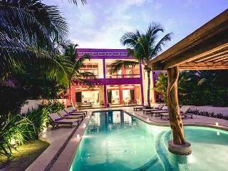 Stunning Beach Front Villa Alma Rosa, Jade Beach, Akumal - Chef Service - Akumal vacation rentals