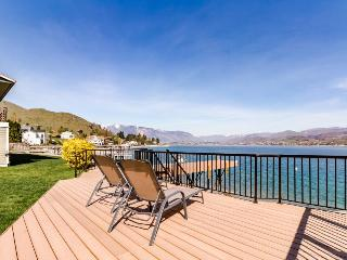 Newly remodeled lakefront home w/ incredible views, dock, sundeck! - Chelan vacation rentals