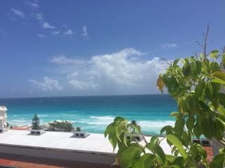 Beach Front Two Bedroom Penthouse- Ocean & Lagoon Views - Daily Maid - B3402 - Cancun vacation rentals
